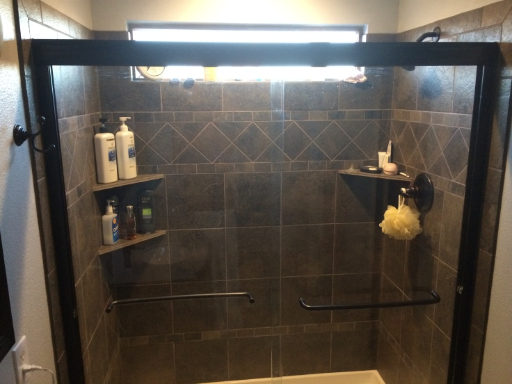 The new shower. Love. It.