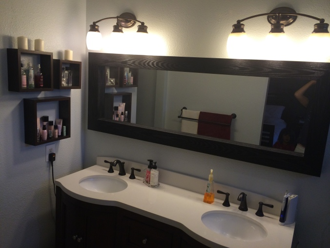 Our new dresser-style vanity.