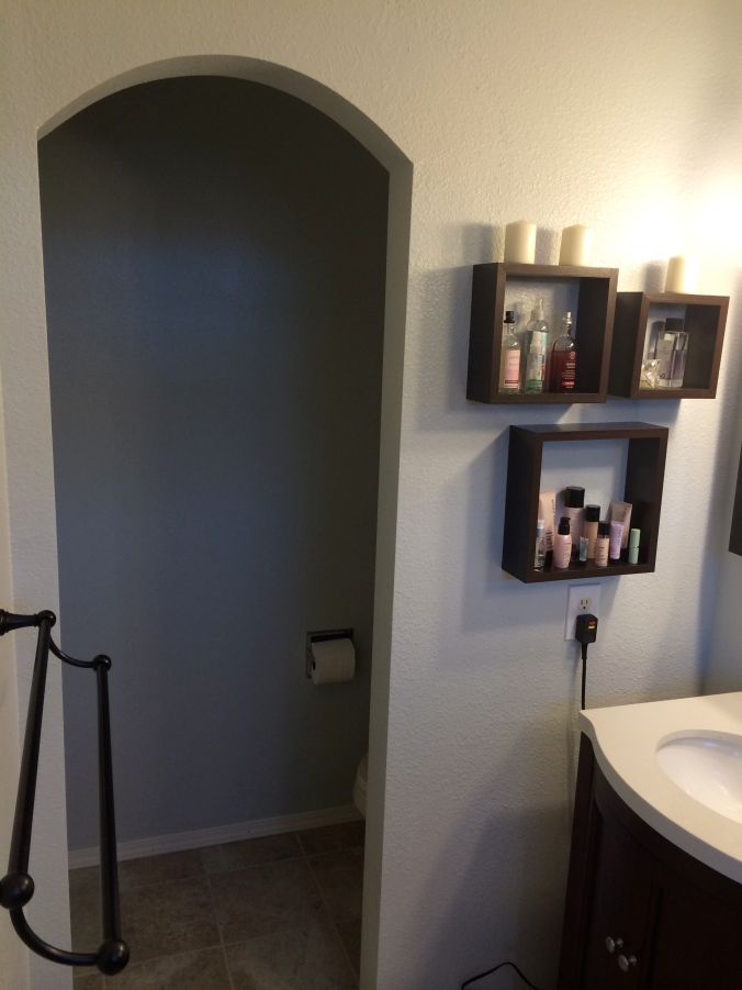 We replaced the in-the-way door with an archway.